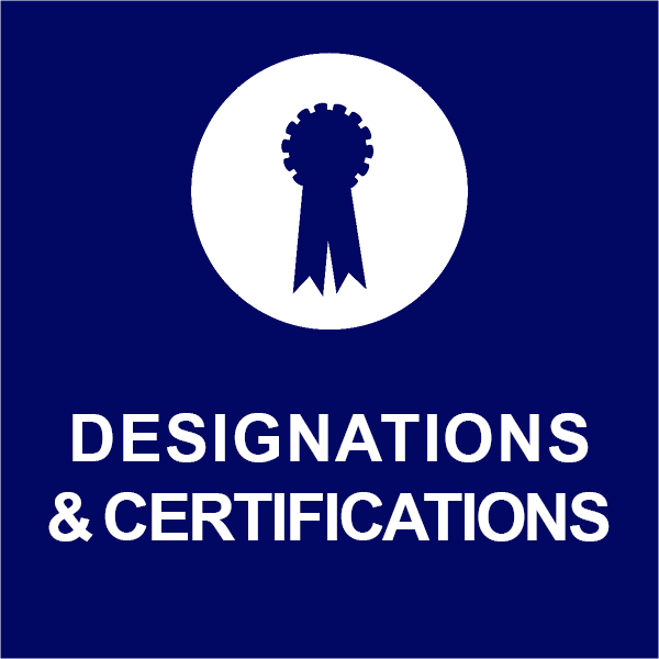 Designations and Certifications